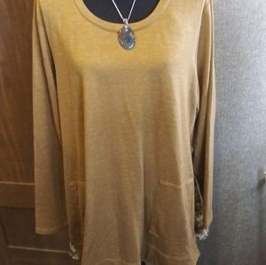 Logo Lounge Antique Gold French Terry Tunic 2x